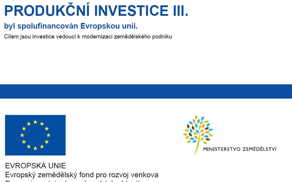 Produkční investice III.